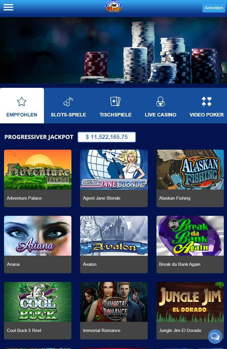 All Slots Casino > 1500€ Gratis Willkommenspaket