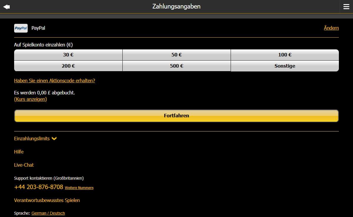 Online casino deutschland paypal